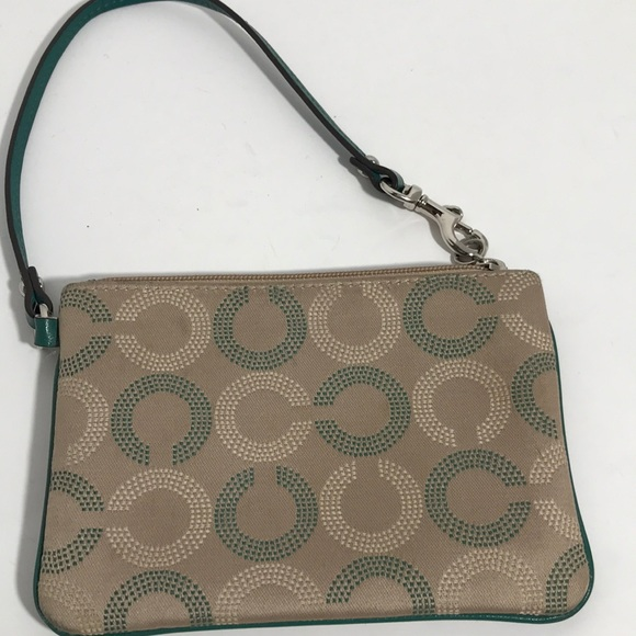 Coach Handbags - Coach Green / Tan Wrist, EUC